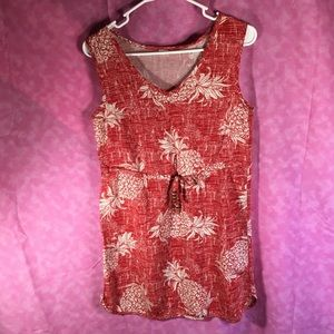 Palm Wave Hawaii Cute Summer Dress! Size Small